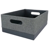 allen + roth 10.69-in W x 5.5-in H x 14.25-in D Grey Fabric Bin