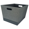allen + roth 14.25-in W x 12-in H x 18-in D Grey Fabric Bin