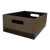 allen + roth 10.69-in W x 5.5-in H x 14.25-in D Brown Fabric Bin
