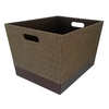 allen + roth 14.25-in W x 12-in H x 18-in D Brown Fabric Bin