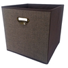 allen + roth 12.75-in W x 12.75-in H x 12.75-in D Dark Brown Fabric Bin