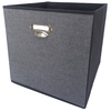 allen + roth 12.75-in W x 12.75-in H x 12.75-in D Gray Fabric Bin