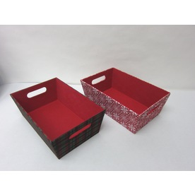 Harvey Lewis 2-Pack 9.5-in W x 5-in H x 14.4-in D Polyester Storage Bins
