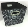 Style Selections 12-in W x 10-in H Floral Print Fabric Milk Crate