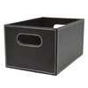 allen + roth 7.13-in W x 5.5-in H x 10.69-in D Brown Faux Leather Bin