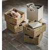 allen + roth 10.69-in W x 11-in H x 10.69-in D Beige Fabric Milk Crate