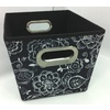 Style Selections 10-in W x 8-in H Floral Print Fabric Milk Crate