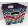 Style Selections 10-in W x 8-in H Chevron Print Fabric Milk Crate