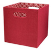 allen + roth 10.69-in W x 11-in H x 10.69-in D Red Fabric Milk Crate