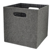 allen + roth 10.69-in W x 11-in H Grey Fabric Milk Crate