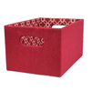 allen + roth 7.13-in W x 5.5-in H Red Fabric Bin