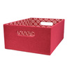 allen + roth 10.69-in W x 5.5-in H x 14.25-in D Red Fabric Bin