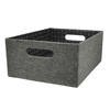 allen + roth 10.69-in W x 5.5-in H Grey Fabric Bin