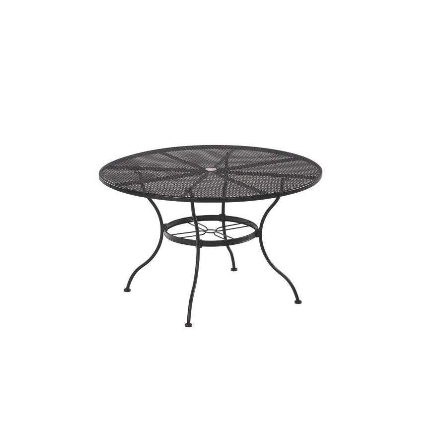 garden treasures davenport black round patio dining table at