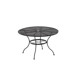 Garden Treasures Davenport Black Round Patio Dining Table