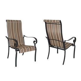 Garden Treasures Set of 2 Mcnulty Aluminum Patio Dining Chairs