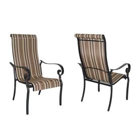 Garden Treasures Set of 2 Mcnulty Aluminum Patio Dining Chairs