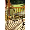 Garden Treasures Davenport Black Mesh Seat Wrought Iron Stackable Patio Dining Chair