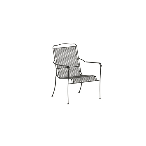Stackable Wrought Iron Davenport Patio Dining Chair from