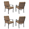 Garden Treasures Set Of 4 Eastmoreland Textured Brown Steel Stackable Patio Dining Chairs