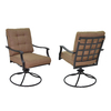 Garden Treasures Set of 2 Eastmoreland Steel Swivel Patio Dining Chairs