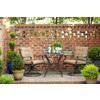 Garden Treasures Eastmoreland Glass-Top Textured Brown Square Patio Bistro Table