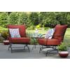Garden Treasures Set of 2 Davenport Black Wrought Iron Mesh Seat Patio Spring Motion Chairs