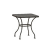 Garden Treasures Davenport 18-in x 18-in Black Wrought Iron Square Patio End Table