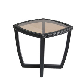 allen + roth Netley 19.5-in W x 19.5-in L Square Steel End Table