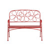 Garden Treasures 43.63-in L Steel/Iron Patio Bench