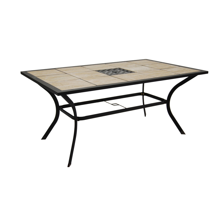 Patio dining tables only nassau outdoor patio dining table only bronze color kontiki dining - Treasure island patio furniture ...