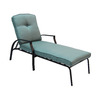 Garden Treasures Cascade Creek Black Steel Patio Chaise Lounge Chair
