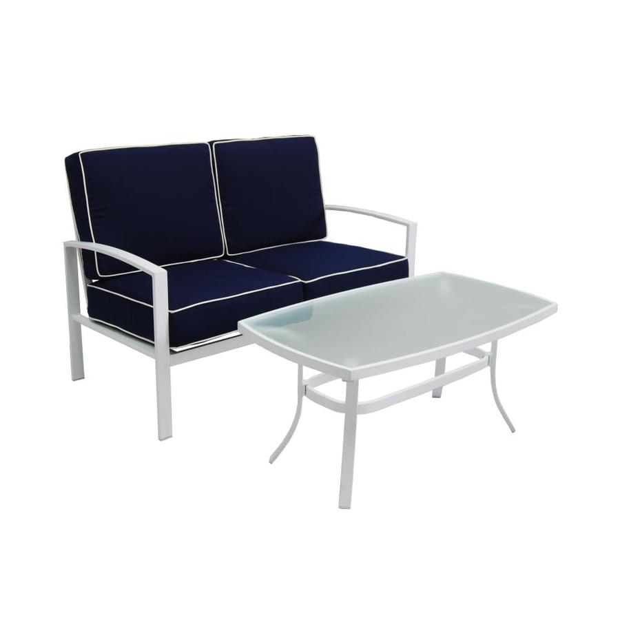 Allen roth park patio furniture shop allen roth set of 2 for Allen roth tenbrook extruded aluminum patio chaise lounge