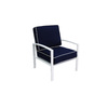 allen + roth Ocean Park 2-Count White Aluminum Patio Conversation Chairs