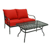 Garden Treasures Yorkford 2-Piece Steel Patio Conversation Set
