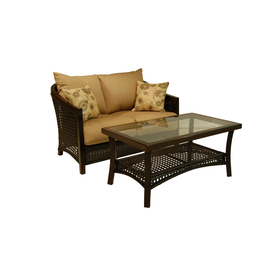allen + roth Cranston Patio Loveseat and Coffee Table Set