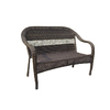 Garden Treasures Severson Textured Black Steel Woven Patio Loveseat
