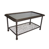 Garden Treasures Severson Glass Rectangle Patio Coffee Table