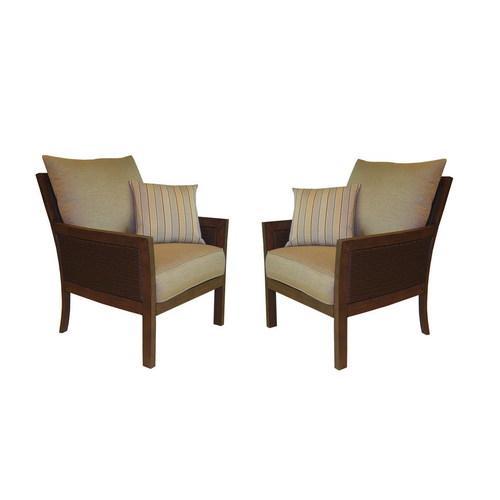 allen roth binkley patio wicker chairs oak aluminum side