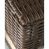 allen + roth Blaney 22-in x 22-in Black Wicker Square Patio End Table