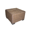 allen + roth Blaney 22-in x 22-in Black Wicker Square Patio Side Table