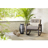 allen + roth Lawley Textured Black Outdoor Rocking Chair