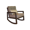 allen + roth Lawley Textured Black Steel Cushioned Patio Rocking Chair
