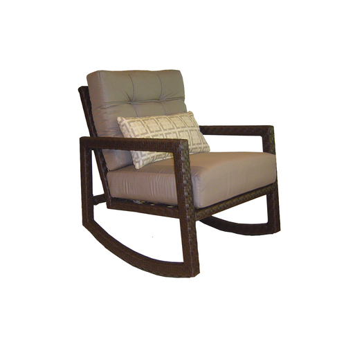 Wicker Allen Roth Lawley Patio Rocking Chair & Side Table from Lowes Seat