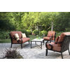 allen + roth Set of 2 Pardini Oil-Rubbed Bronze Aluminum Cushioned Patio Chairs