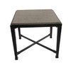 allen + roth Pardini 20-in x 20-in Oil Bronze Extruded Aluminum Square Patio Side Table