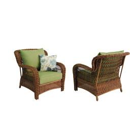 Shop allen roth Set of 2 Belanore Steel Strap Seat Patio