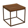 allen + roth Belanore 20-in x 20-in Rust Aluminum Square Patio Side Table