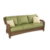 allen + roth Belanore Textured Coffee Steel Strap Patio Sofa