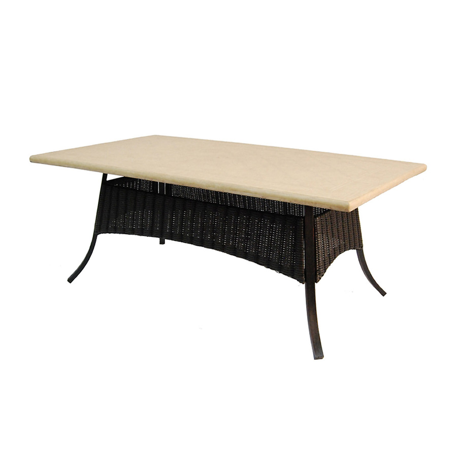 Pardini Oil Rubbed Bronze Rectangle Patio Dining Table At